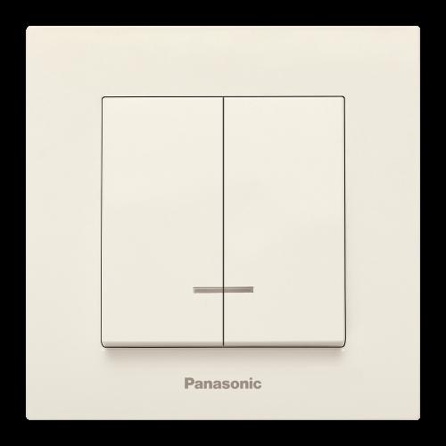 PANASONIC - Ключ сериен светещ Panasonic Kare крем WKTC00102BG‐EU1