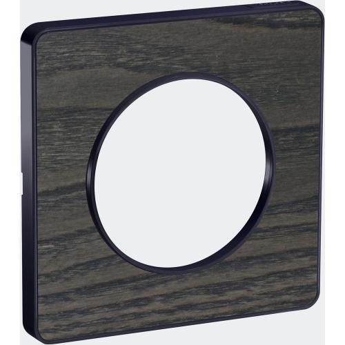 SCHNEIDER ELECTRIC - S540802P3 Odace Touch aluminium декоративна рамка единична дърво с външен кант в цвят антрацит