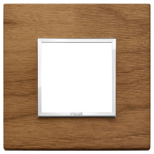 VIMAR - 21642.31 - Двумодулна рамка wood Italian walnut