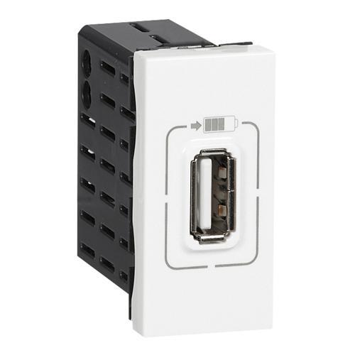 LEGRAND - 77591 USB розетка за зареждане тип А 5V 1.1A 5.5W 1 мод. Mosaic бял
