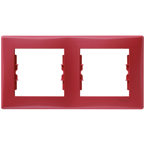 SCHNEIDER ELECTRIC - SDN5800341 декоративна рамка Sedna двойна червена