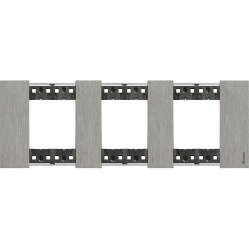 BTICINO - Рамка 3x2 мод. немски стандарт цвят Стомана Living Now Bticino KA4802M3ZG