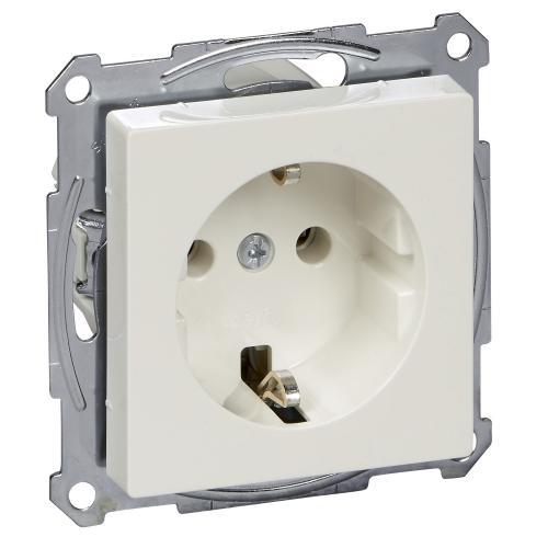 SCHNEIDER ELECTRIC - MTN2301-0319 Механизъм контакт шуко с лицев панел 2P+T 10/16A 250V цвят Полярно бял System M Merten SE