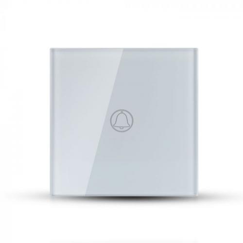 V-TAC - Звънец Ключ Touch Бял Стъкло SKU: 8372 VT-5411