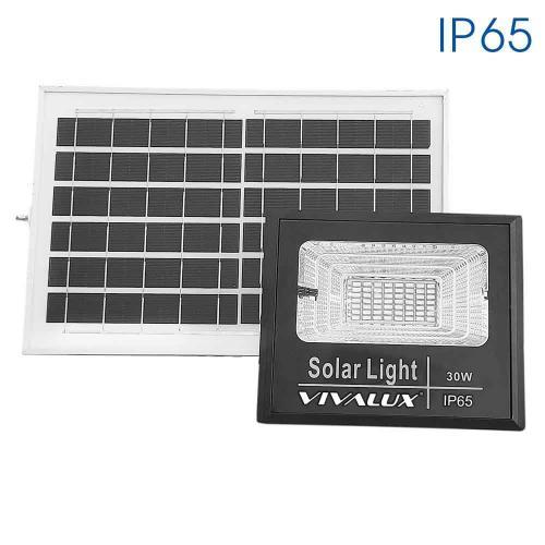 VIVALUX - LED прожектор със соларен панел ISOLA LED - 30W - 350lm – 6400K - IP65 VIV004473