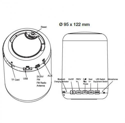 V-TAC - 5W LED Лампа Димираща Smart Говорител Бяла 3000К+RGB SKU: 8513 VT-1045