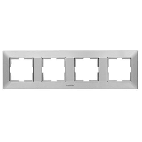 PANASONIC - Рамка четворна хоризонтална сиво PANASONIC Arkedia slim WNTF0804-2SL