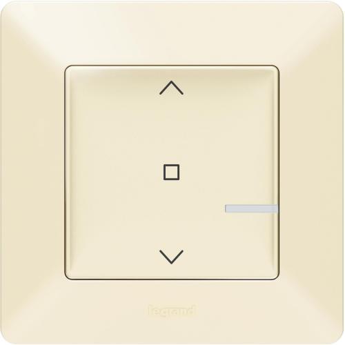 LEGRAND - Свързан ключ за щори безжичен Netatmo 752291 Valena Life крем