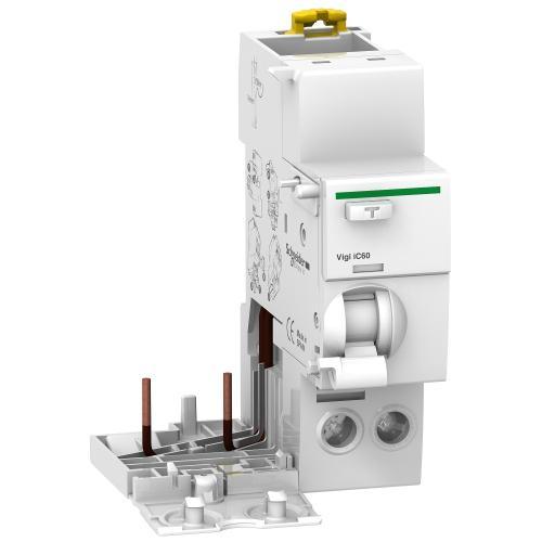 SCHNEIDER ELECTRIC - ДТЗ модул Acti 9 Vigi iC60 2P 40A 30mA тип AC 6kA 2 мод. A9V41240