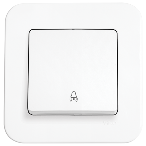 VIKO - Push Button with Bell Symbol 90420006 white Rollina
