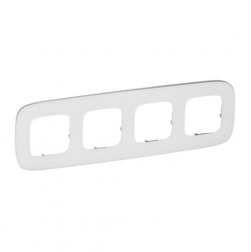 LEGRAND - Четворна рамка ALLURE 755544 бяло стъкло