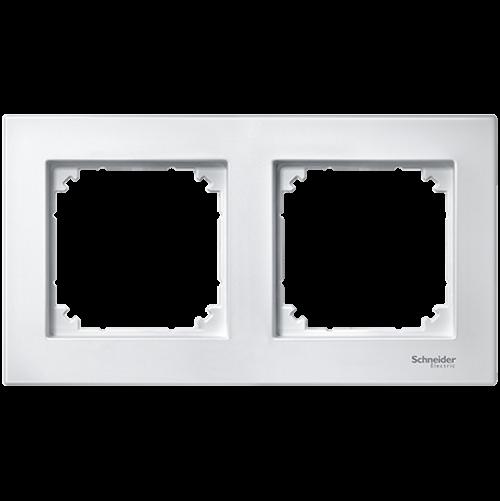 SCHNEIDER ELECTRIC - MTN515225 рамка двойна активно бяла M-Plan Merten
