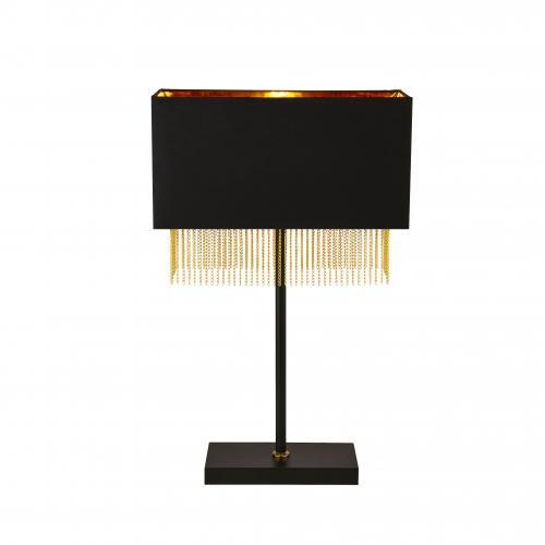SEARCHLIGHT - Настолна лампа 8722BK  Fringe  E27, 1X60W