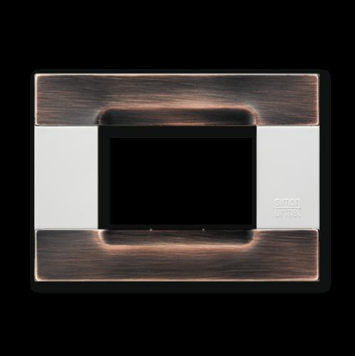 SIMON URMET - 10903.B.82 Copper Brushed Polychrome Metal Finishes Kadra тримодулна рамка
