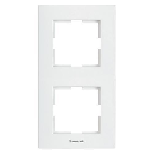 PANASONIC - Рамка двойна вертикална бяла PANASONIC Karre plus WKTF08122WH‐EU1
