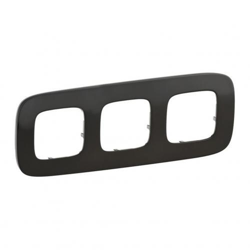 LEGRAND - Тройна рамка ALLURE 755513 тъмен никел