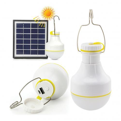COmmel - Соларна LED лампа 2,2W 160 lm с акумулатор 2,2 Ah USB charger IP54 401-710