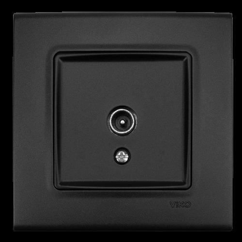 VIKO - ТВ коаксиална розетка  LINNERA LIFE черно 90404085-BG