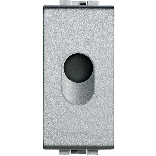 BTICINO - NT4953 Празен модул с отвор ф9мм едномодулен алуминий Livinglight