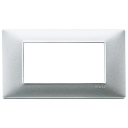 VIMAR - 14654.20 - Plana Четиримодулна рамка технополимер matt silver