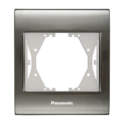 PANASONIC - Единична рамка Инокс WBTF0801‐5IM