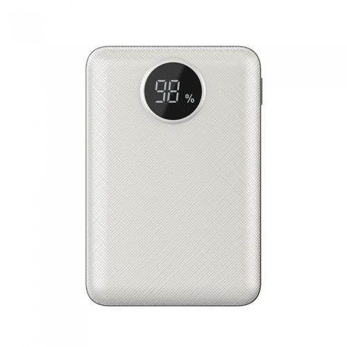 V-TAC - Външна батерия 10000 mA/h, дисплей, бял SKU: 8187 VT-3501