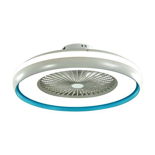 V-TAC - 50W LED Вентилатор Дистанционно 3 в 1 AC Мотор Син Ринг SKU: 7934 VT-5022