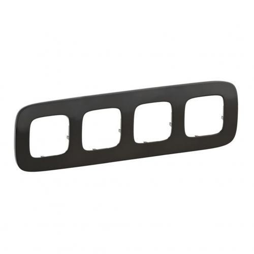 LEGRAND - Четворна рамка ALLURE 755514 тъмен никел