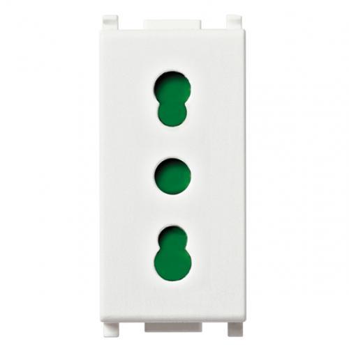 VIMAR - 14203 - Plana Контакт 2P+E 16A P17/11 бял