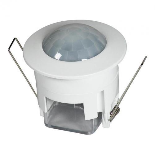 COmmel - Датчик за движение PIR, за вграждане в таван, 360°, обхват D6m @ h=2.5m, IP20, цвят Бял Commel 311-201
