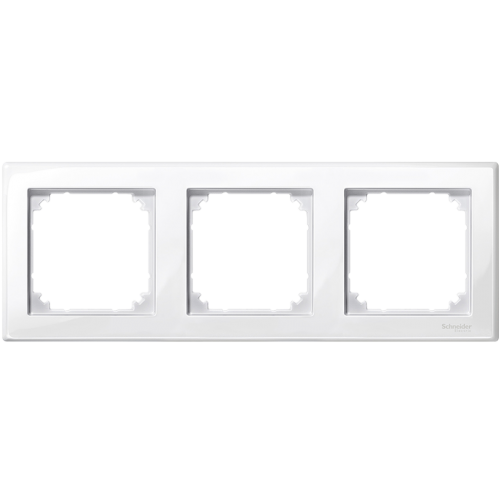 SCHNEIDER ELECTRIC - MTN478325 M-Smart frame, 3-gang, active white, glossy