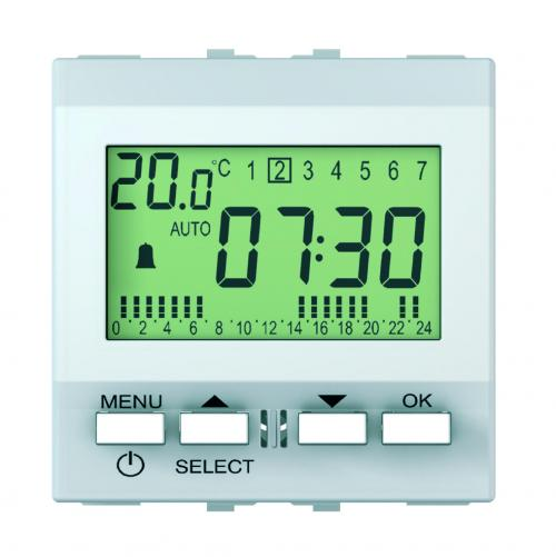 SCHNEIDER ELECTRIC - MGU3.545.18 Unica - wake up clock - mechanism - 230 VAC - 2 m - white