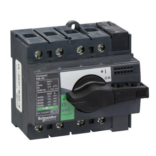 SCHNEIDER ELECTRIC - Товаров прекъсвач INS40 4P 40A с ръкохватка ComPact 28901