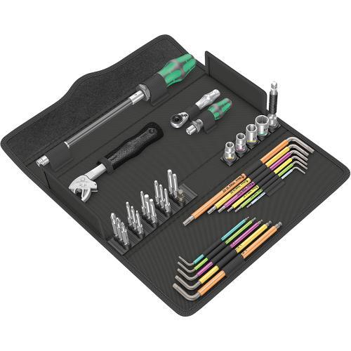 WERA - Комплект Kraftform Kompakt F1 ръкохватка, тресчотка, гаечен ключ, удължител, битове, шестограми 05134013001