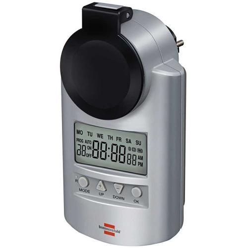 BRENNENSTUHL - Седмичен електронен таймер, 24-часов, DT IP44 V2, влагозащитен,16А, 1507490