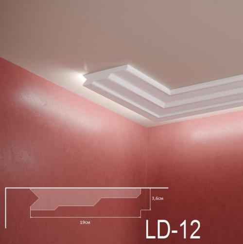 ADORN - Декоративен корниз за индиректно-осветление LD-12-2m 190х36 мм