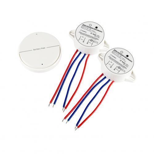 V-TAC - Безжичен Пиезо Ключ Двоен Сх5 Бял SKU: 8230 VT-542