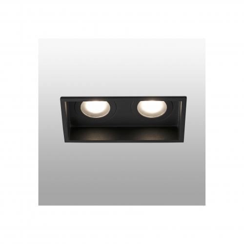 FARO - HYDE Black square recessed lamp 2L Ref.40125