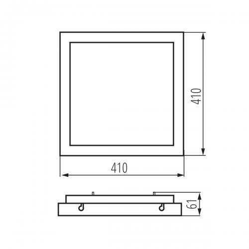 KANLUX - LED плафониера със сензор TYBIA LED 38W-NW-SE B 38W 3800lm 4000K 24643