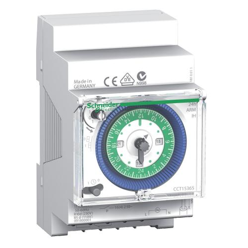SCHNEIDER ELECTRIC - Таймер механичен Acti 9 IH дневен с резерв 150 часа 3 мод. CCT15365