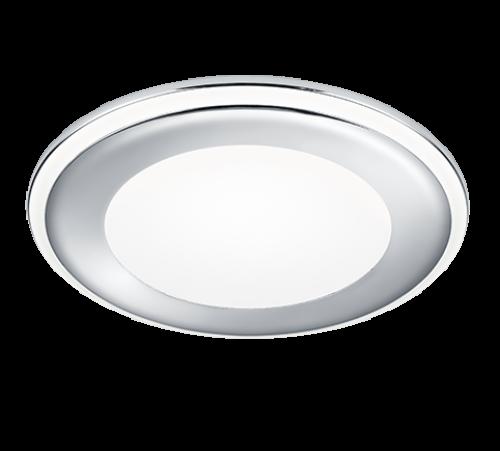 TRIO - LED панел за вграждане  10 W хром AURA –652410106