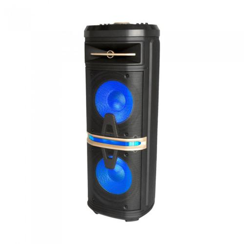 V-TAC - 120w мобилна колона, 1 безжичен микрофон и 1 микрофон с кабел, RF контрол, RGB , 2*10inch говорителя SKU: 7734 VT-6210-2