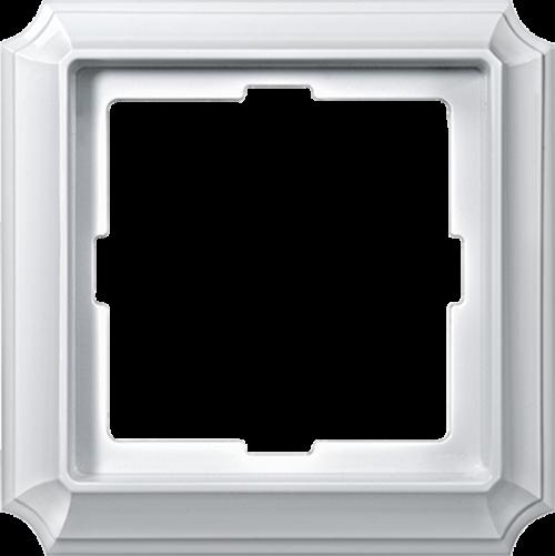 SCHNEIDER ELECTRIC - MTN483119 декоративна рамка единична полирано бял Antique Merten