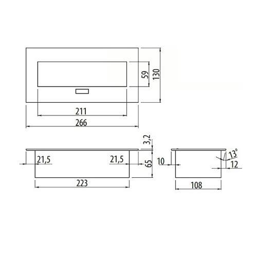 GTV Lighting - Контакт за вграждане в мебел метал бял AE-PBU02GS-10 контакт тип шуко 2бр.+USB  2бр