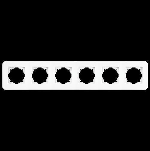 VIKO - 6 Gang Frame Horizontal white Rollina 90480056