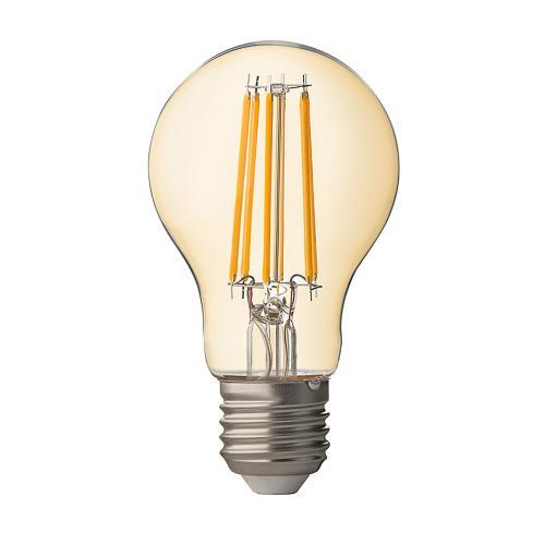 ULTRALUX - LFB752725D LED filament крушка, димираща, 7.5W, E27, 2500K, 220V AC, амбър