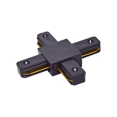 VIVALUX - Х-конектор за релса за релсови осветителни системи LINK-X - черен VIV004079