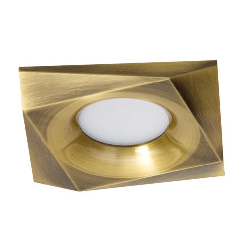 ULTRALUX - LVSSMR16AB Ceiling downlight, square, fixed, antique brass, non-waterproof IP20