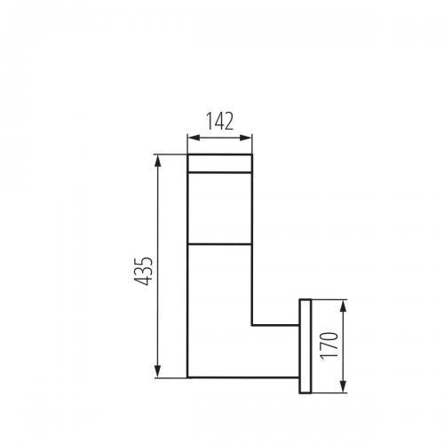 KANLUX - Градински аплик INVO OP EL-53-L-GR (29170)