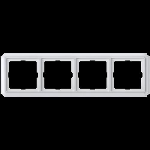 SCHNEIDER ELECTRIC - MTN483419 рамка четворна полирано бял Antique Merten